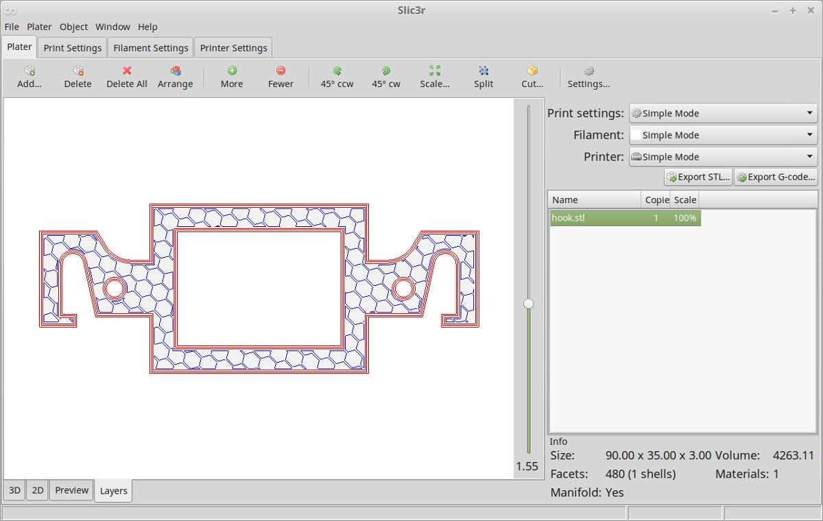 3D printing Slic3r - Adblock Radio Prototype